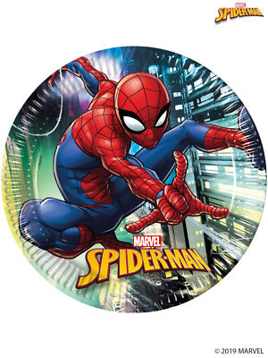 (8) 23CM SPIDERMAN TEAM UP PLATES