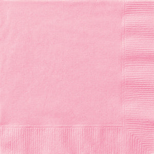 Lovely Pink Solid Beverage Napkins, 20ct