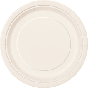 "Ivory Solid Round 9"" Dinner Plates, 16ct"
