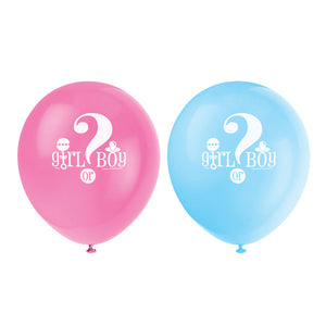 "Gender Reveal 12"" Latex Balloons, 8ct"