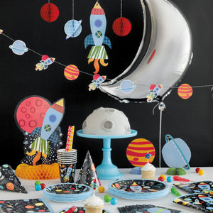 Outer Space 1st Birthday Beverage Napkins, 16ct