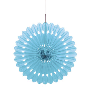 "Powder Blue Solid 16"" Tissue Paper Fan"