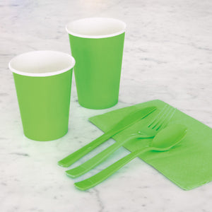 Lime Green Solid 9oz Paper Cups, 14ct