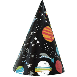 Outer Space Party Hats, 8ct