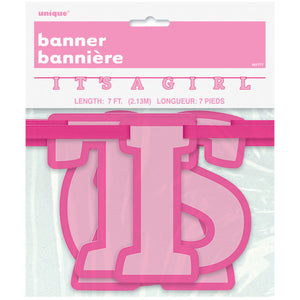 Girl Baby Shower Letter Banner, 7 ft