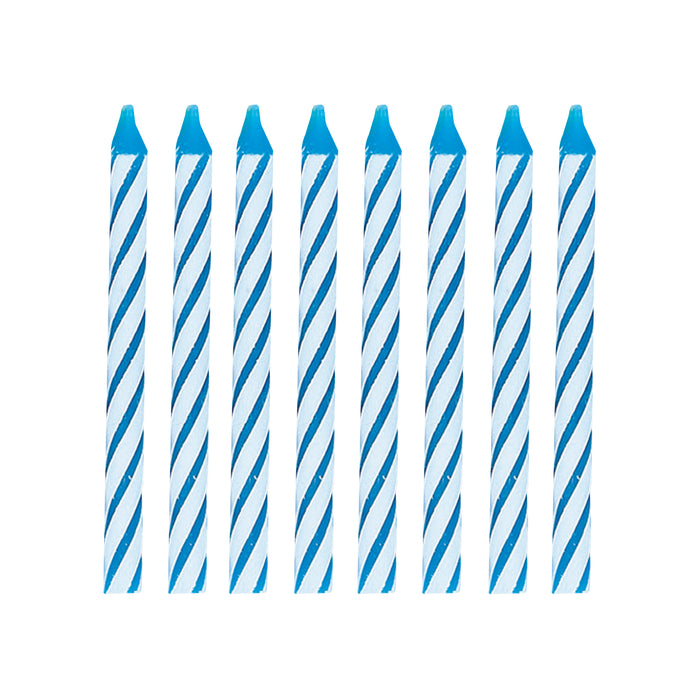 Blue Spiral Birthday Candles, 24ct