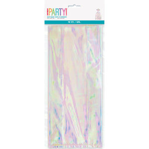 "Iridescent Cellophane Bags, 5""x11"", 10ct"