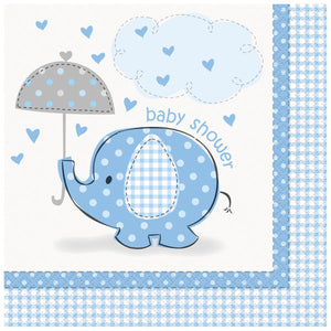 Umbrellaphants Blue Luncheon Napkins, 16ct