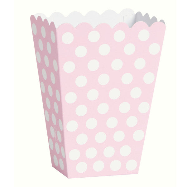Lovely Pink Dots Treat Boxes, 8ct