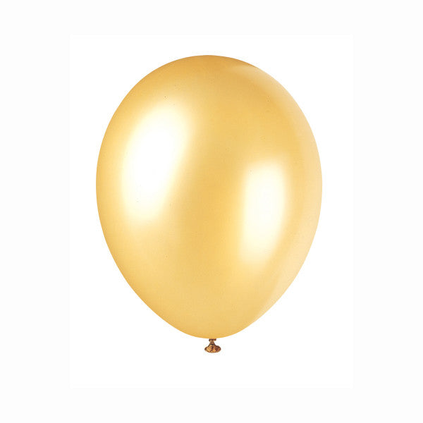 "12"" Latex Balloons, 50ct - Champagne Gold"