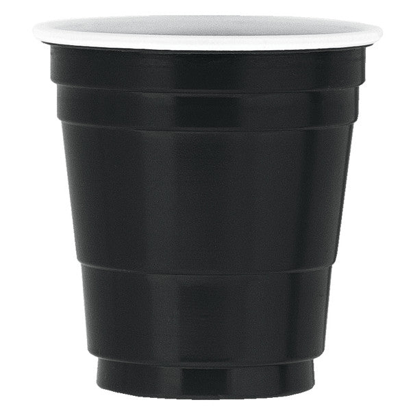 Black Plastic Shot Glasses, 20ct