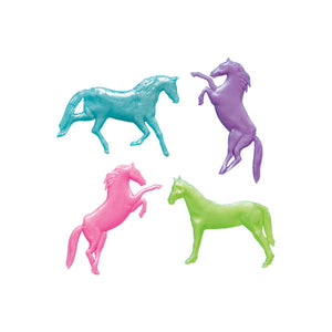 Pearlized Stretchy Horse Favors, 8ct
