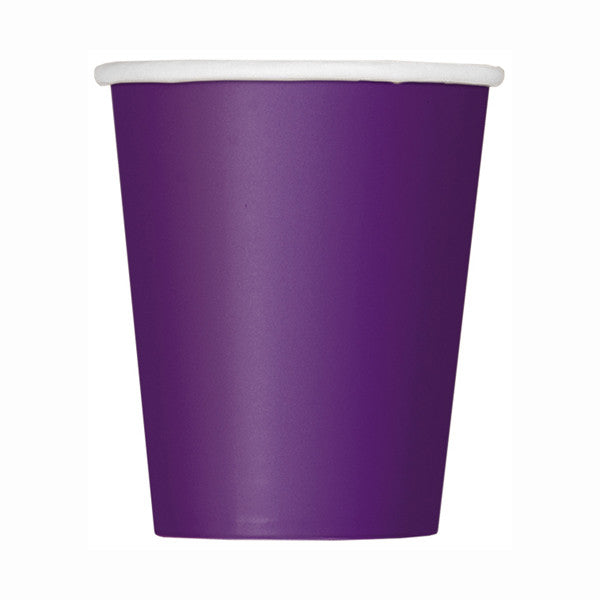 Deep Purple Solid 9oz Paper Cups, 14ct