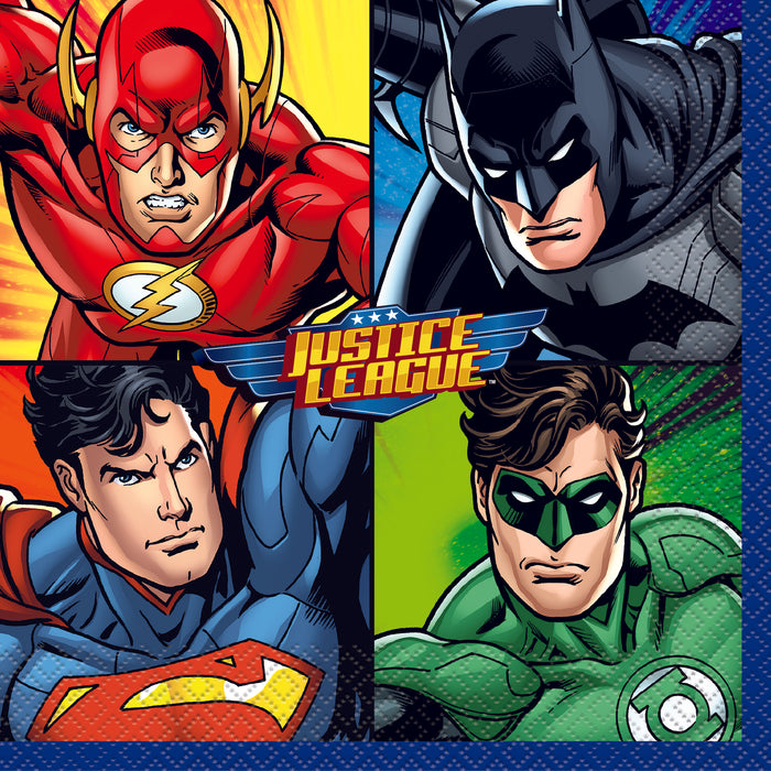 Justice League Luncheon Napkins, 16ct