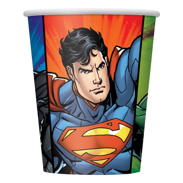 Justice League 9oz Paper Cups, 8ct