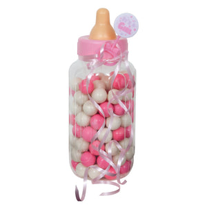 Pink Baby Bottle Bank, 11""