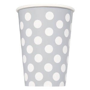 Silver Dots 12oz Paper Cups, 6ct