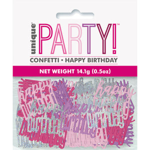 Birthday Pink Glitz Happy Birthday Confetti, .5oz