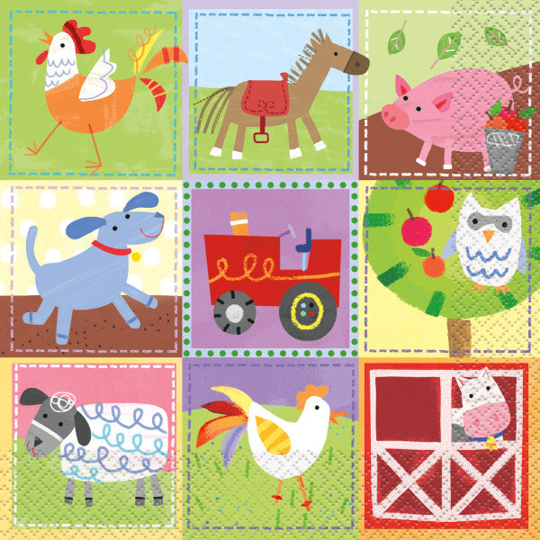 Farm Party Luncheon Napkins, 16ct