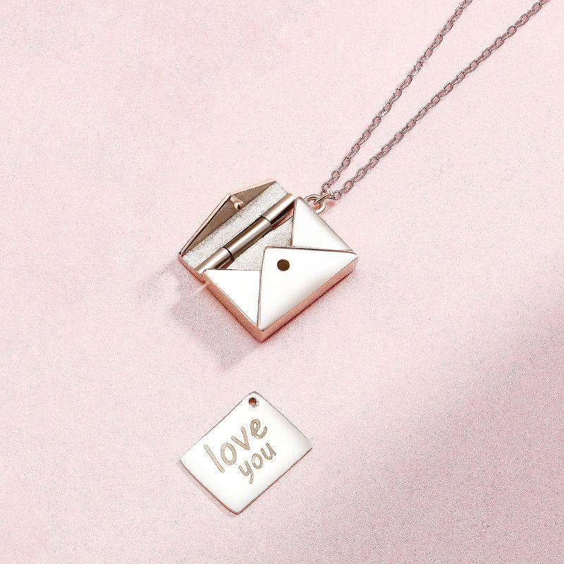 Personalised Little Message Envelope Necklace