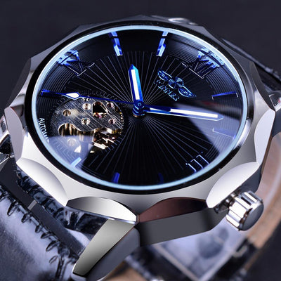 Geometry Design Skeleton Dial Men's Watch