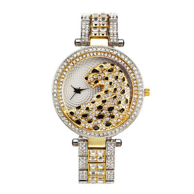 Women Quartz Watch Diamond Leopard For Women