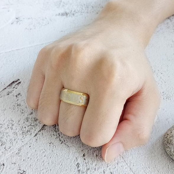 Gold Jesus Ring