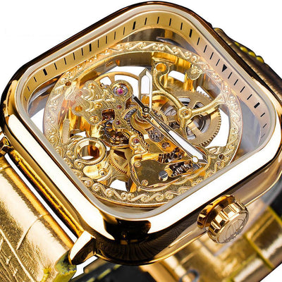 Golden Retro Luminous Wrist Watches