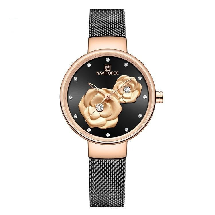 Ladies Watch Fashion Creative 3D Rose Women wrist