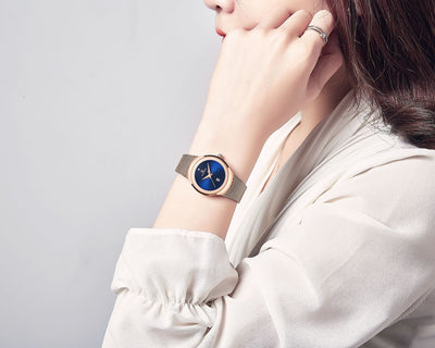 Women Fashion Gold Quartz Watch