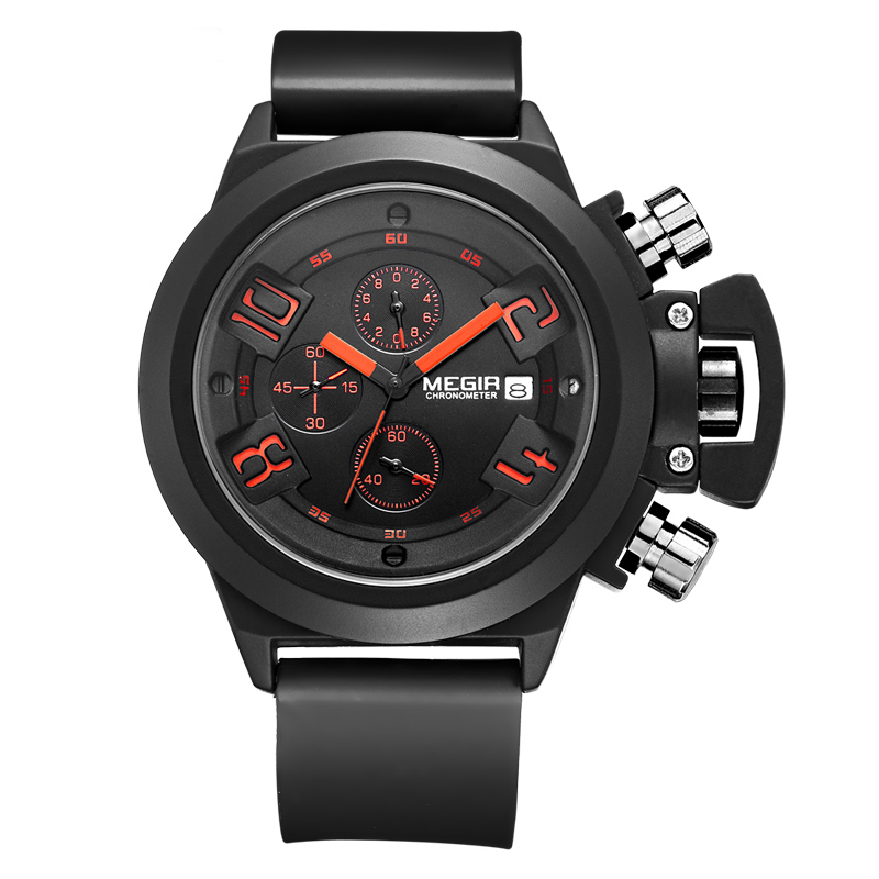 Big Dial Fashion Men's Military Sports Watches