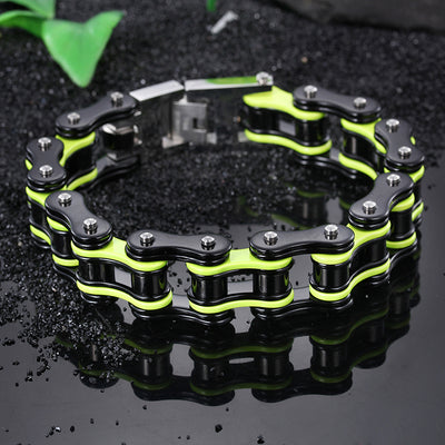 Men's Motorcycle Chain Stainless Steel Biker Bracelet Fashion Holiday Gifts  16mm8.66''