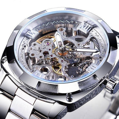 Retro Men's Automatic Mechanical Wirstwatches