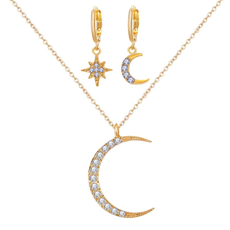 Moon Necklace Set