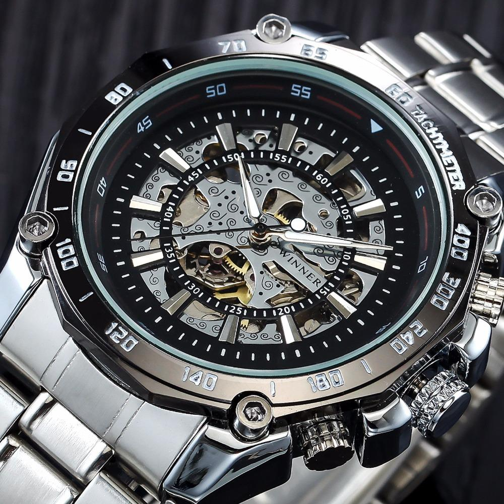 Luminous Brand Steel Men Automatic Mechanical Watch
