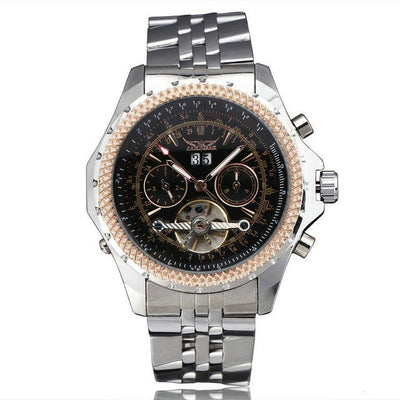 HIP HOP Automatic Mechanical Calendar Men Watch