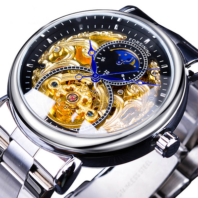 Golden Moon Automatic Mechanical Business Watch