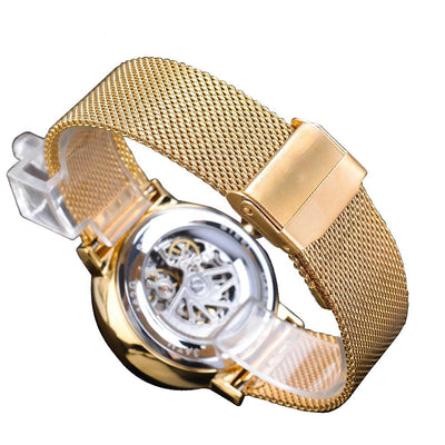 Automatic Golden Business Wrist Watch For Men Waterproof Galaxy Watches
