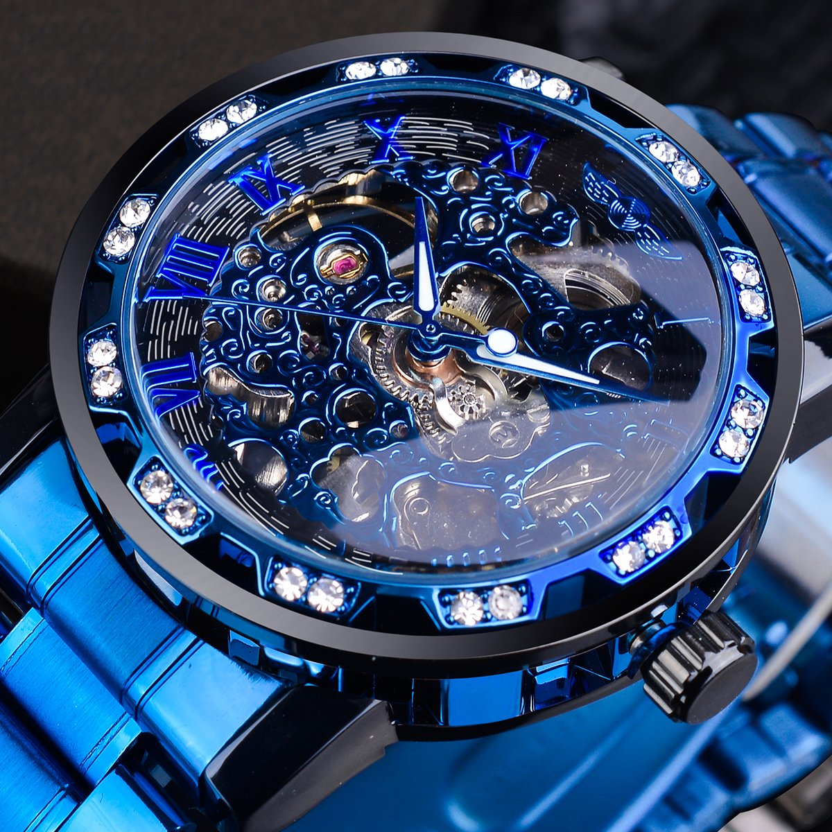 Transparent Diamond Mechanical Watch