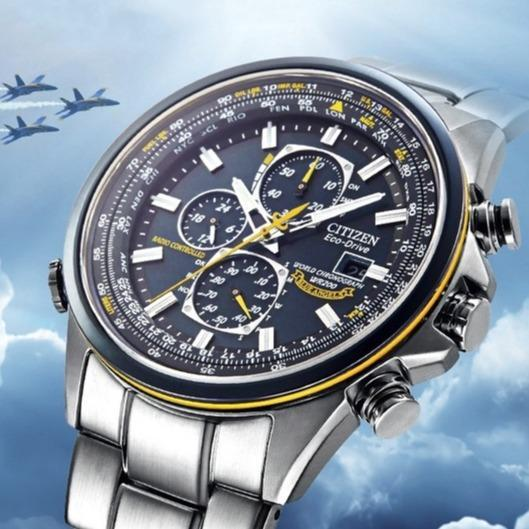 Men Automatic Quartz Watch Blue Angels World Chronograph