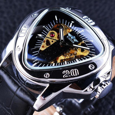 Golden Skeleton Automatic Mechanical Wrist Watches