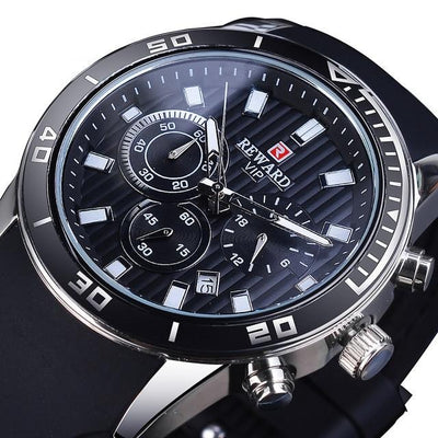 REWARD 2020 Fashion Green Dial Calendar Display Men Top Brand Luxury Design Military Quartz Sport Wrist Watch Male Clock Relogio