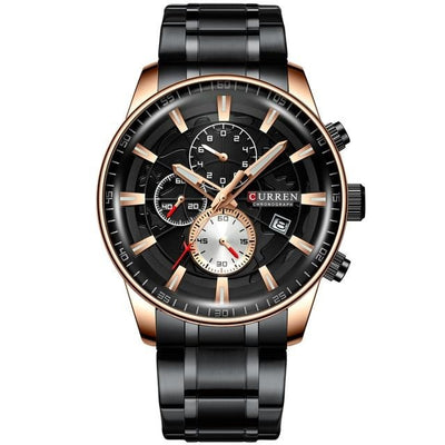 Men Top Luxury Brand Gold Sport Waterproof Quartz Watches