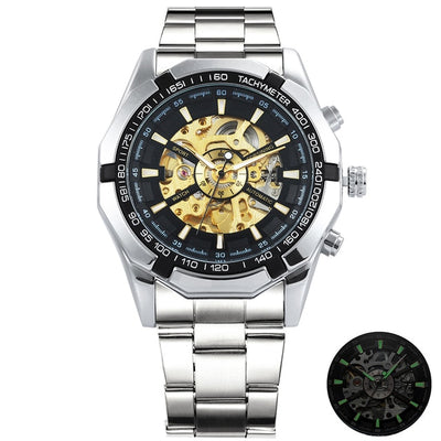 Winner Watch Men Skeleton Automatic Mechanical Watch