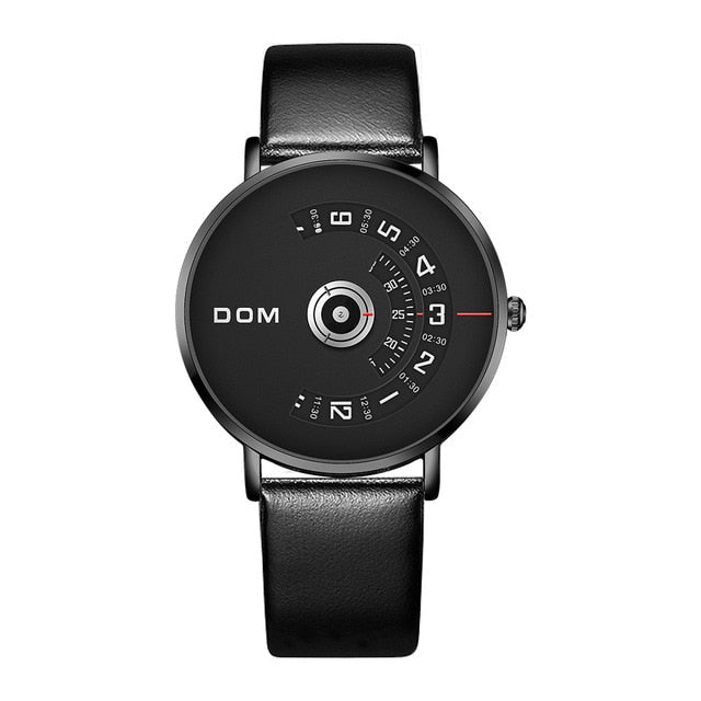 DOM New Fashion Mens Watches Top Brand Luxury Big Dial Stylish Quartz Watch Steel Waterproof Sport Waterproof Watch Men M-1303