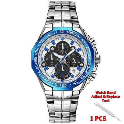 2020 Men Blue Full Steel Watch