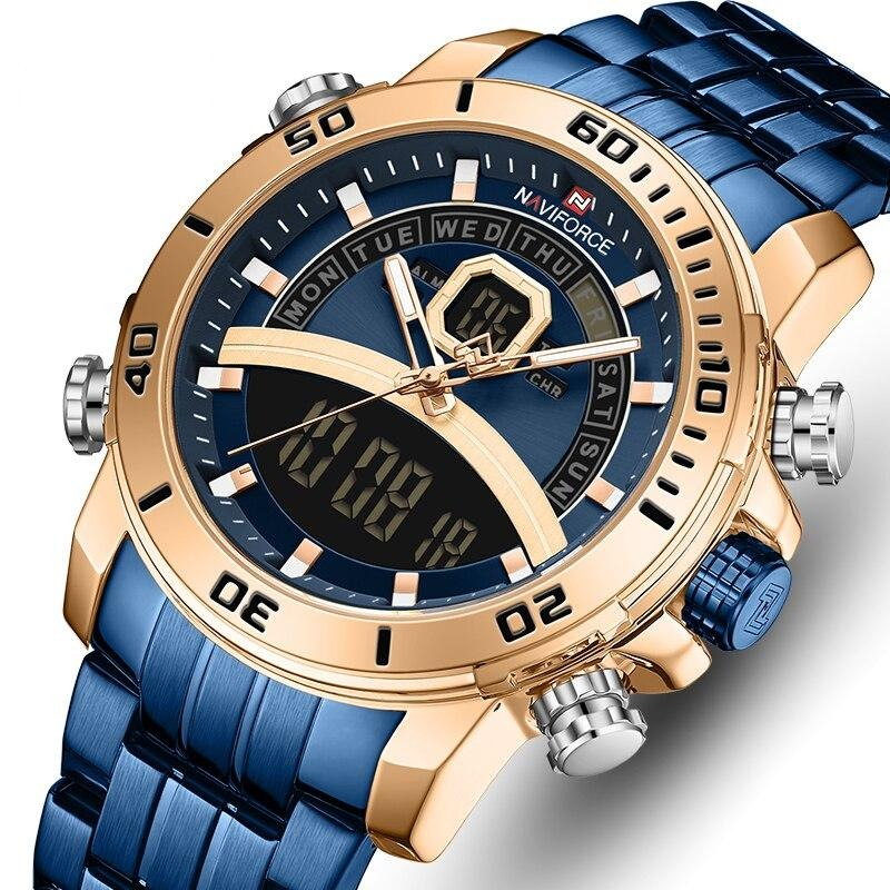 New Luxury Men Chronograph Quartz Watch