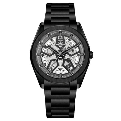 Luxury Mechanical Watches Skeleton Dial Face Stainless Backcase Mens Business Hours