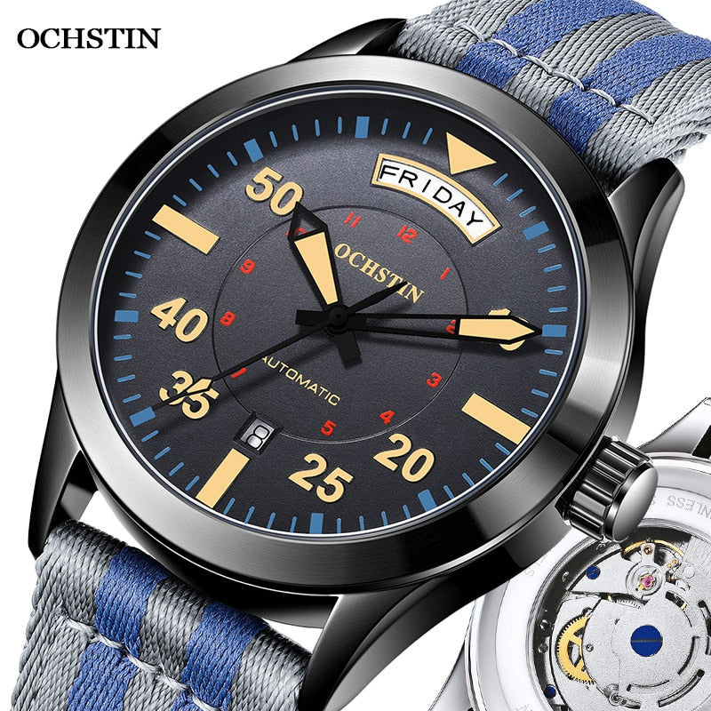 2020 New Top Brand OCHSTIN Automatic Mechanical Watches For Men Pilot Watch Male Tourbillon Relogio Masculino