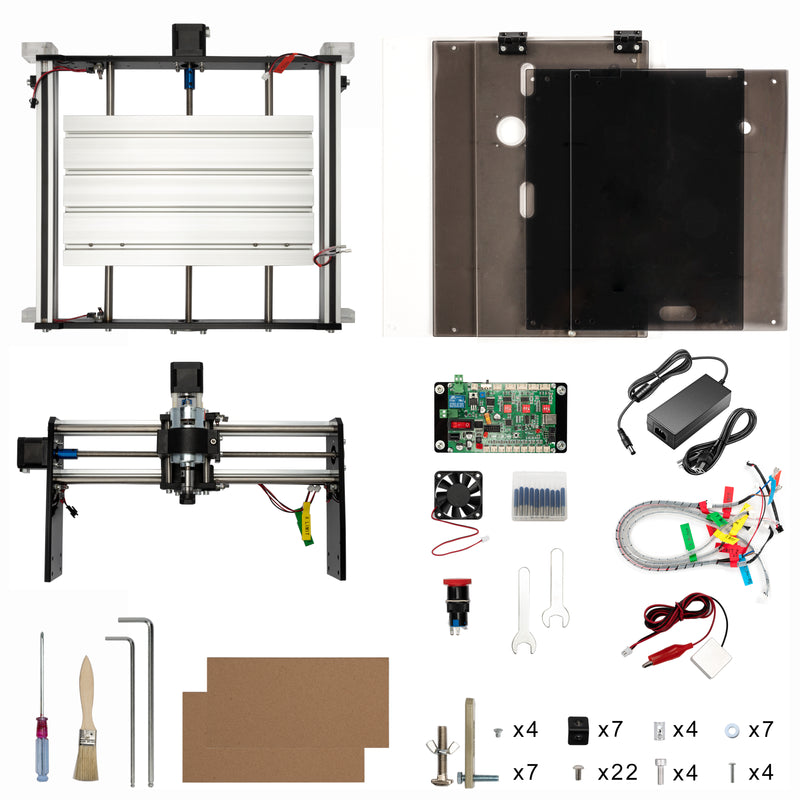 FoxAlien CNC Router 3018-SE V2 with 300W Spindle Bundle Kit